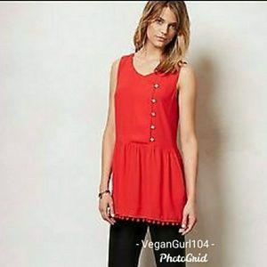 Anthropologie | Moulinette Soeurs Red Dress (Sz 4)